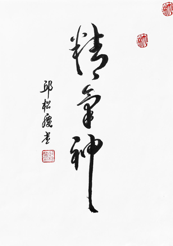 《精气神》29.7x21cm 行书 纸本墨笔 2018年01