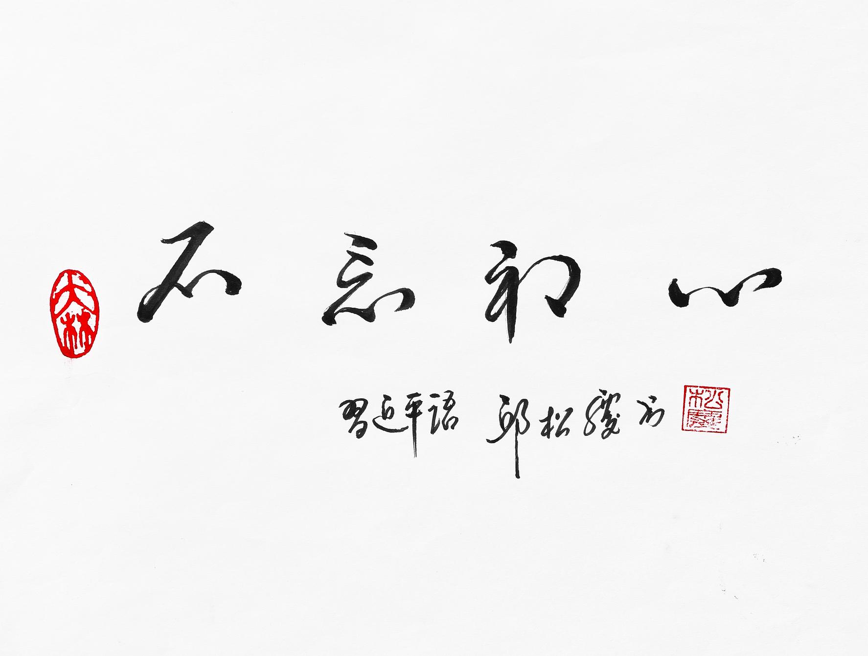 《不忘初心(习近平语)》29.7x21cm 行书 纸本墨笔 2018年