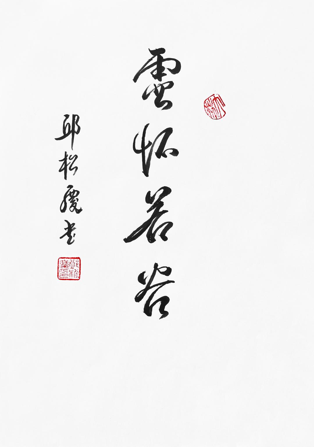 《空怀若谷》29.7x21cm 行书 纸本墨笔 2018年