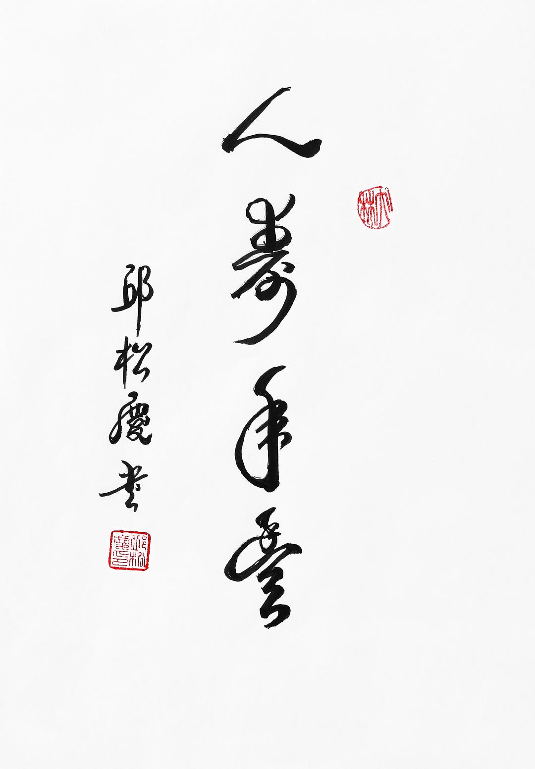 《人寿年丰》29.7x21cm 行书 纸本墨笔 2018年