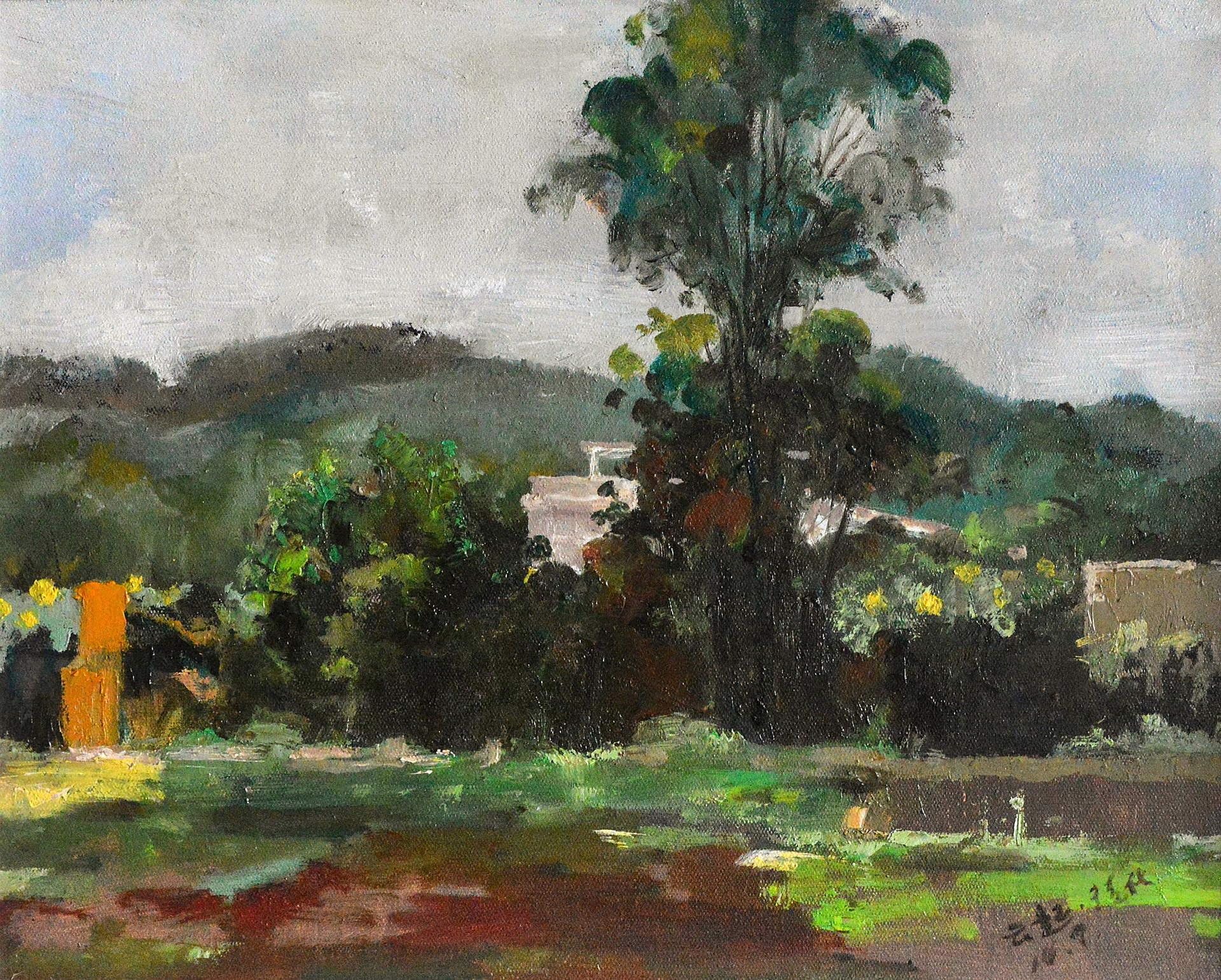 《风景写生》30x40cm 油彩 亚麻布 2010年
