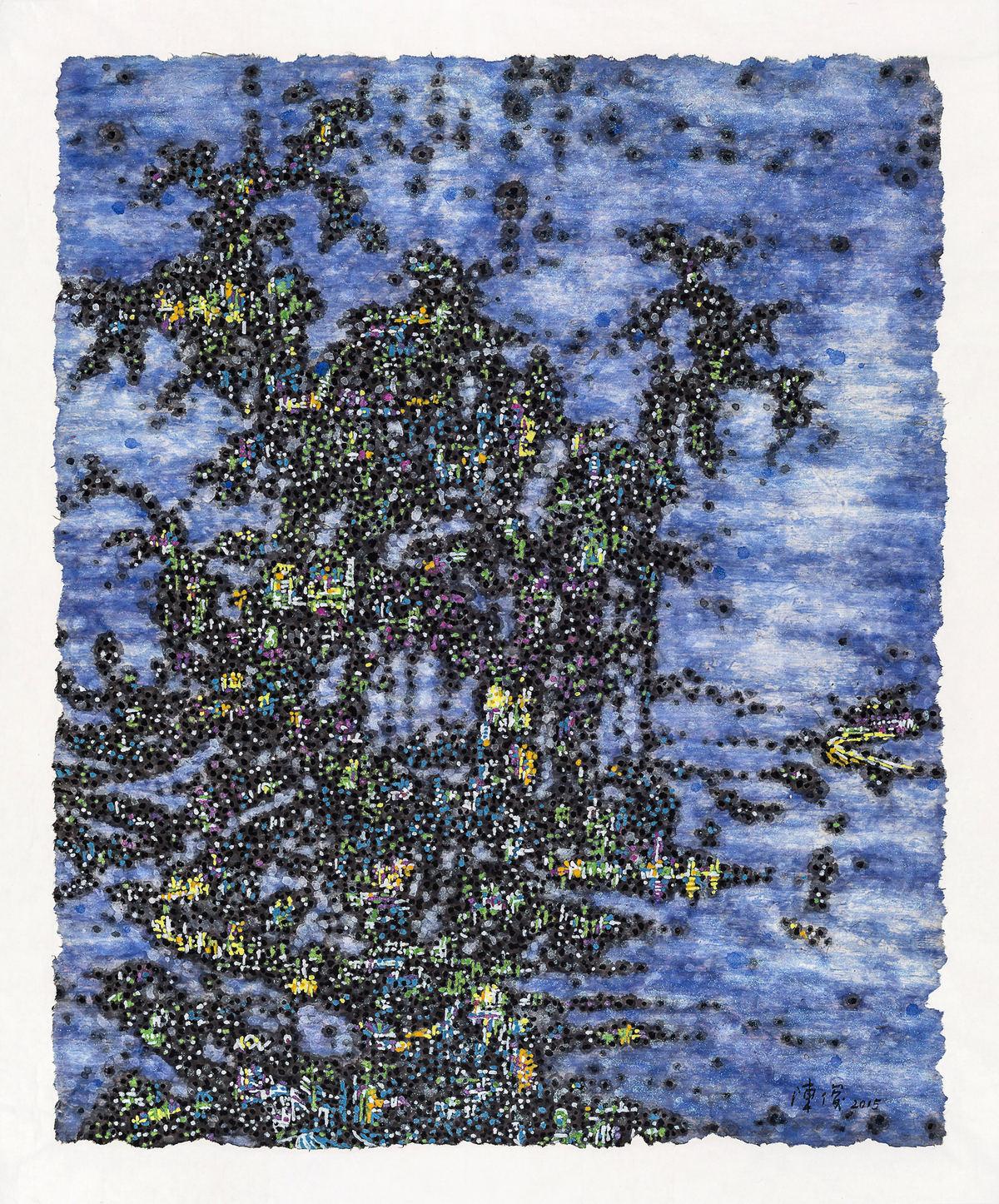 《梦回NO.2》120×100cm 宣纸 水墨 丙烯 2015年
