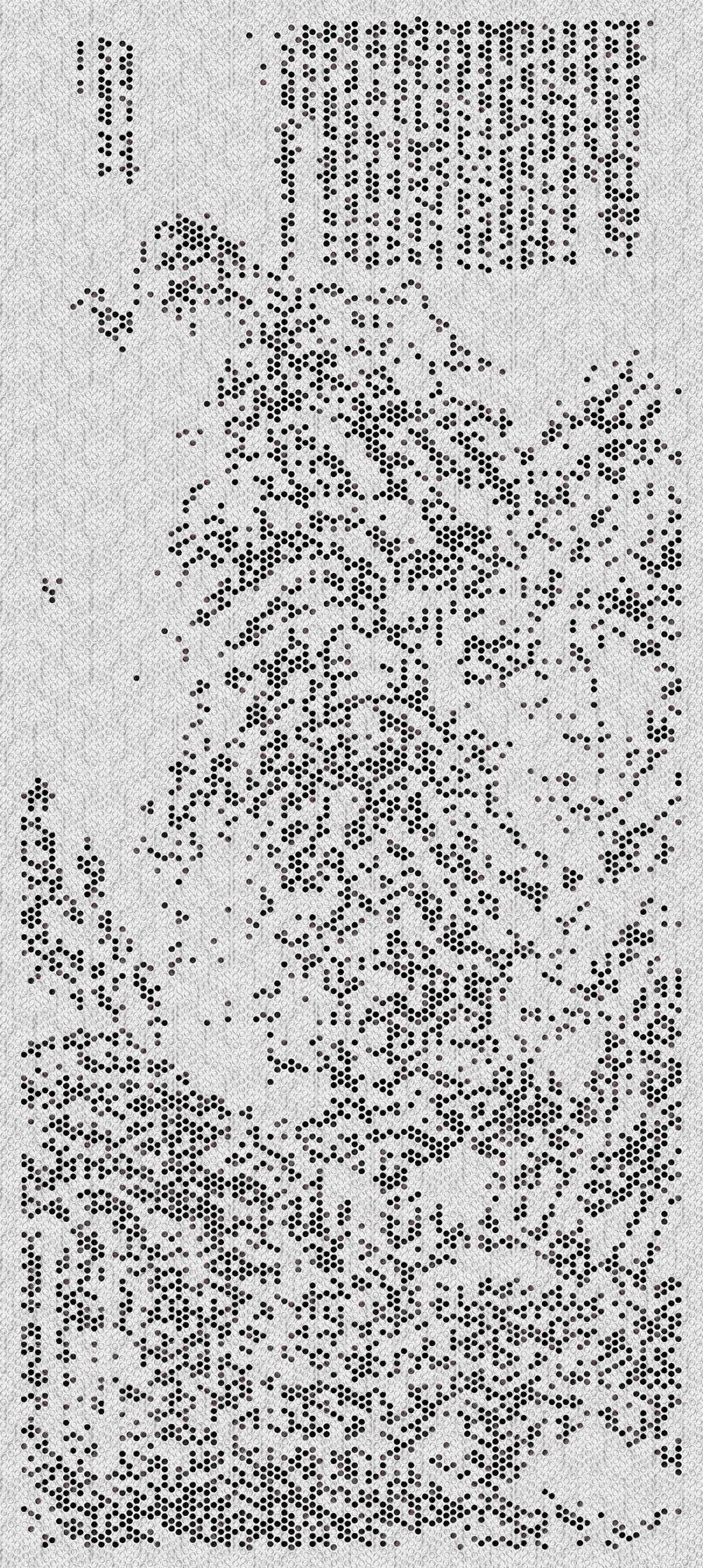 气泡膜系列《2975克山水》墨 水 气泡膜 230×100cm 2017年