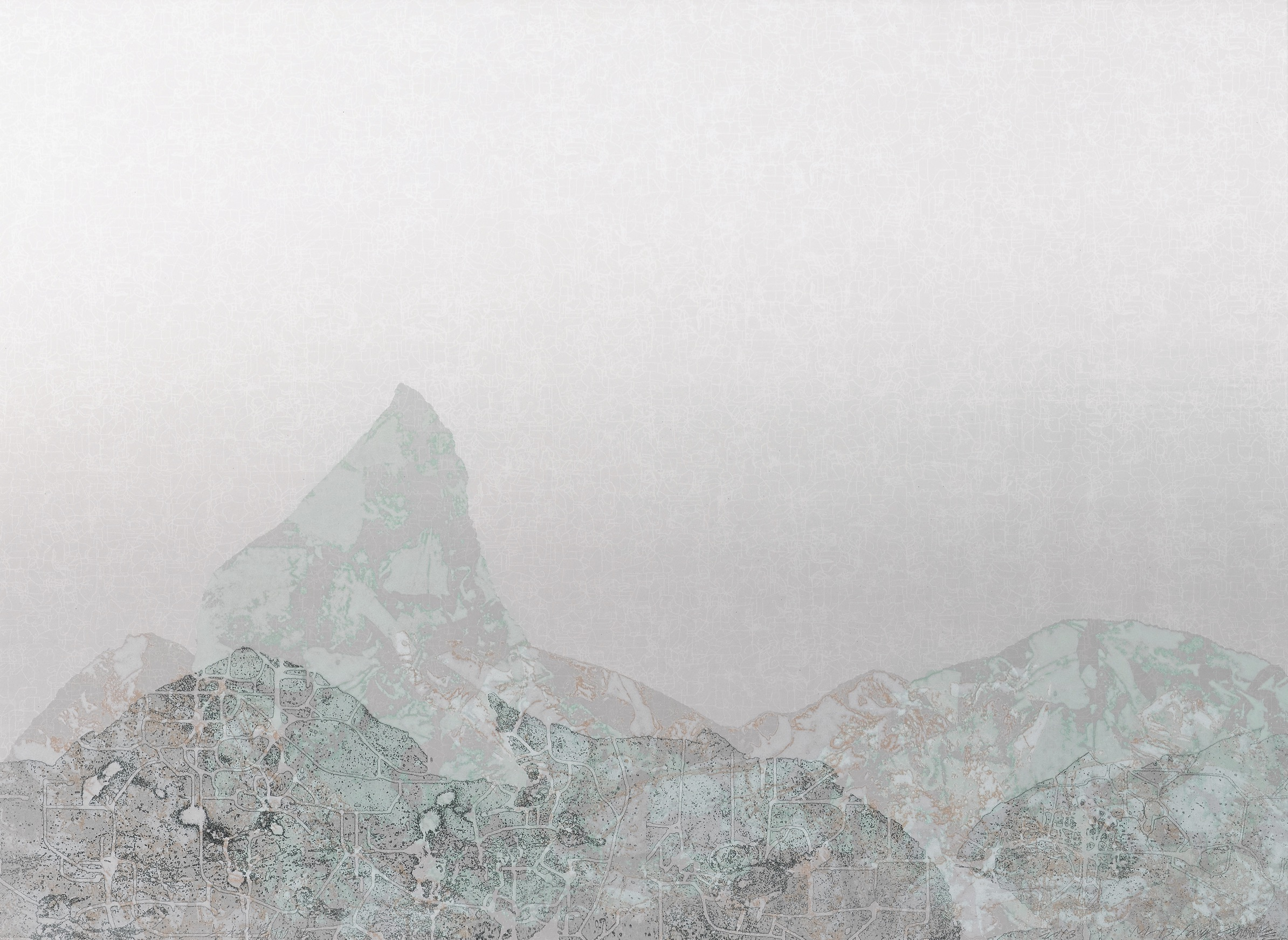 《水形No.14》,絹印,103×140cm ,2013