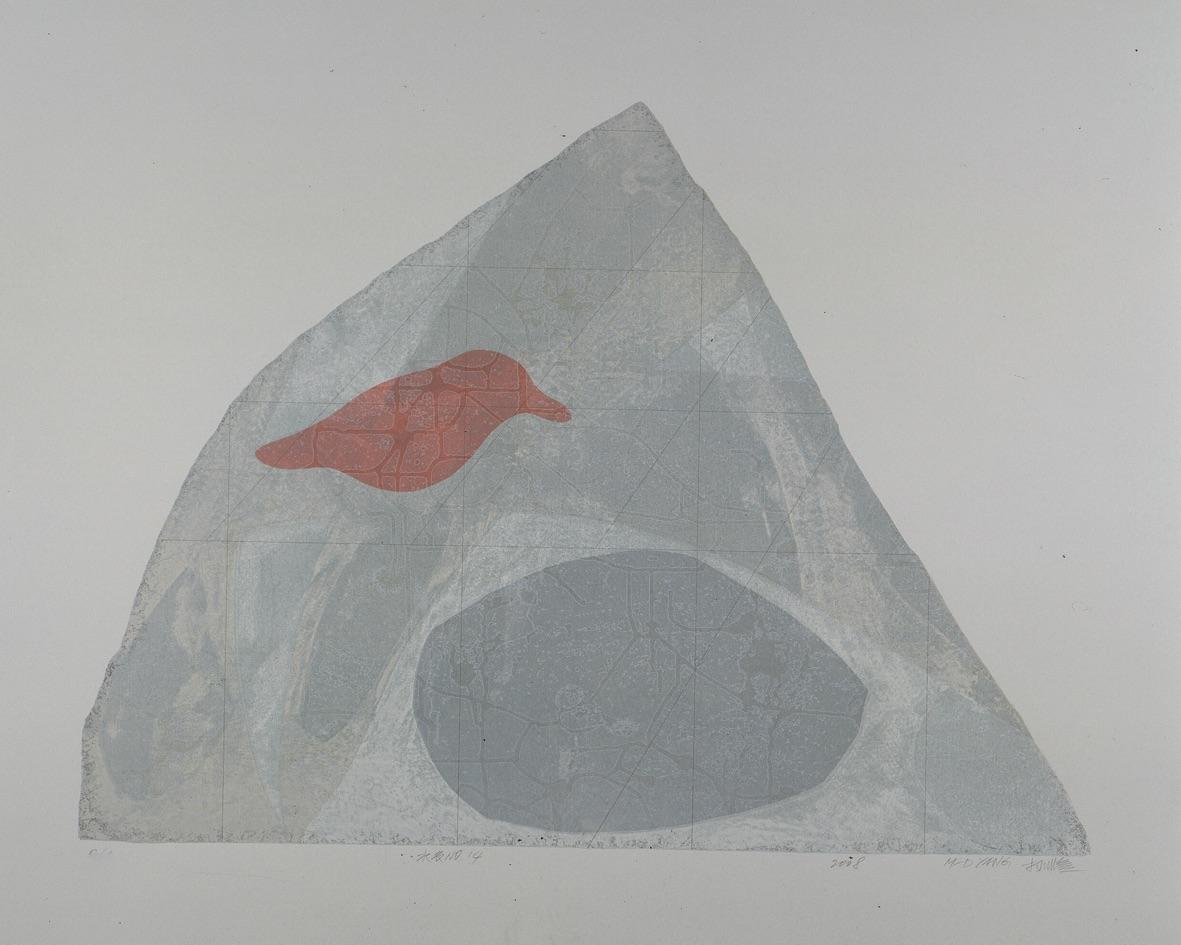 《水衣No.14》,絹版, 80x100cm,2008