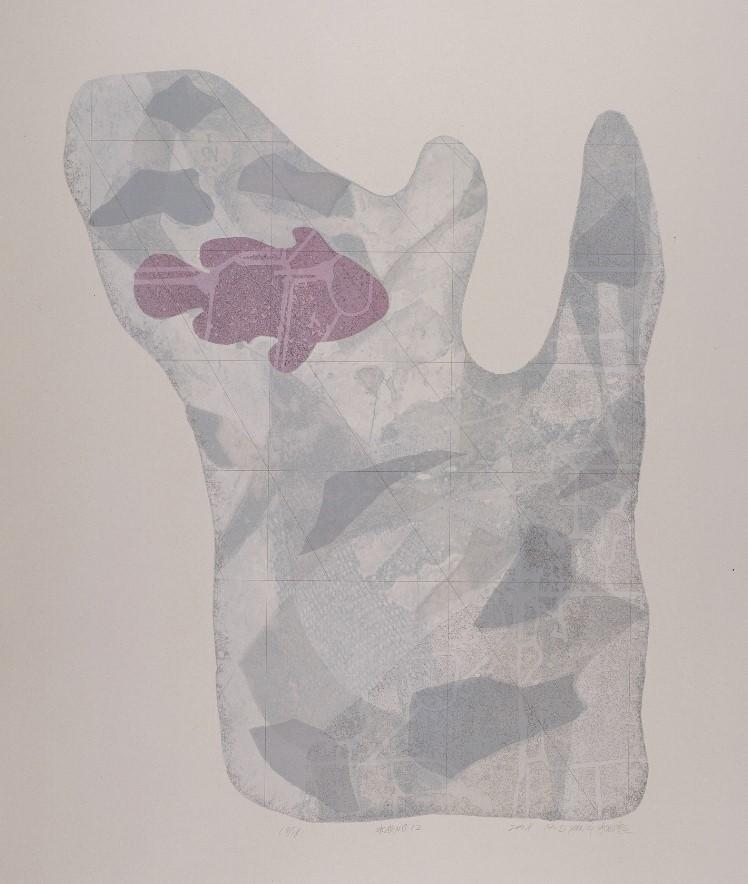 《水衣No.12》,絹版,100x80cm,2008