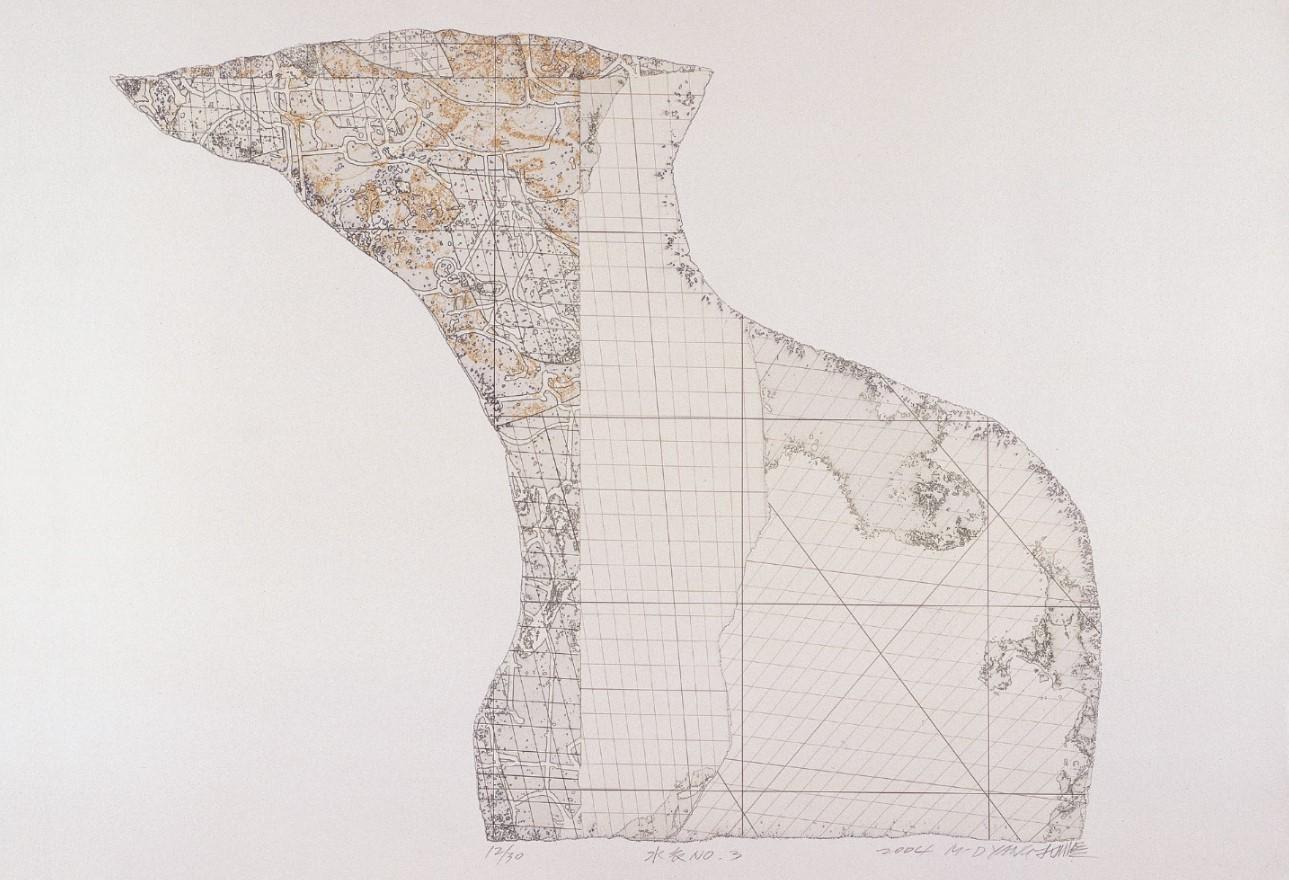 《水衣No.3》,絹版, 65X85cm,2004