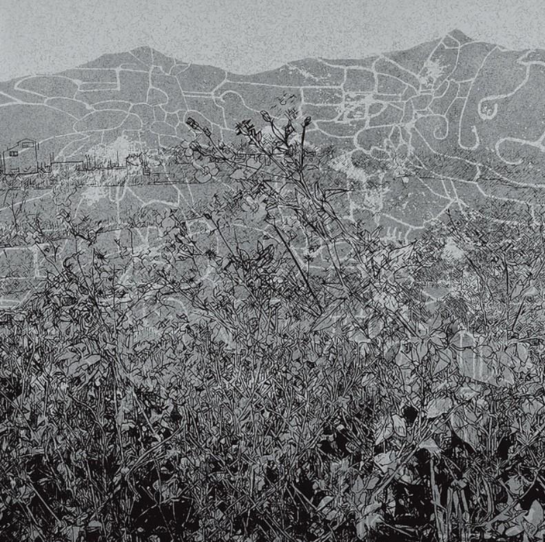 《草衣No.16》,絹版,103x103cm,2010