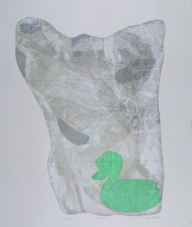 《水衣No.13》,絹版,100x80cm,2008