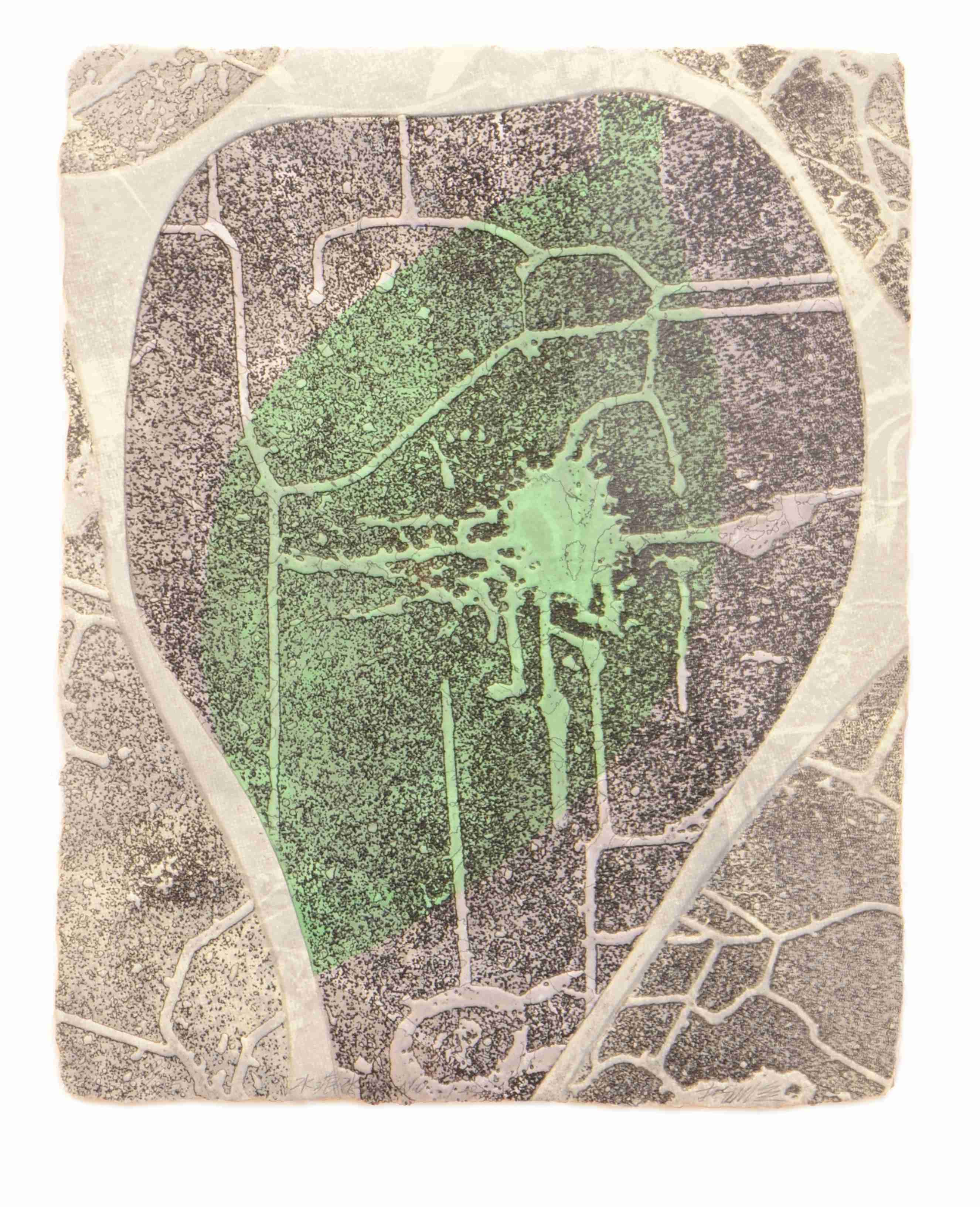 《水痕水衣No.1-3》,絹版、凹版,33×26cm,2011