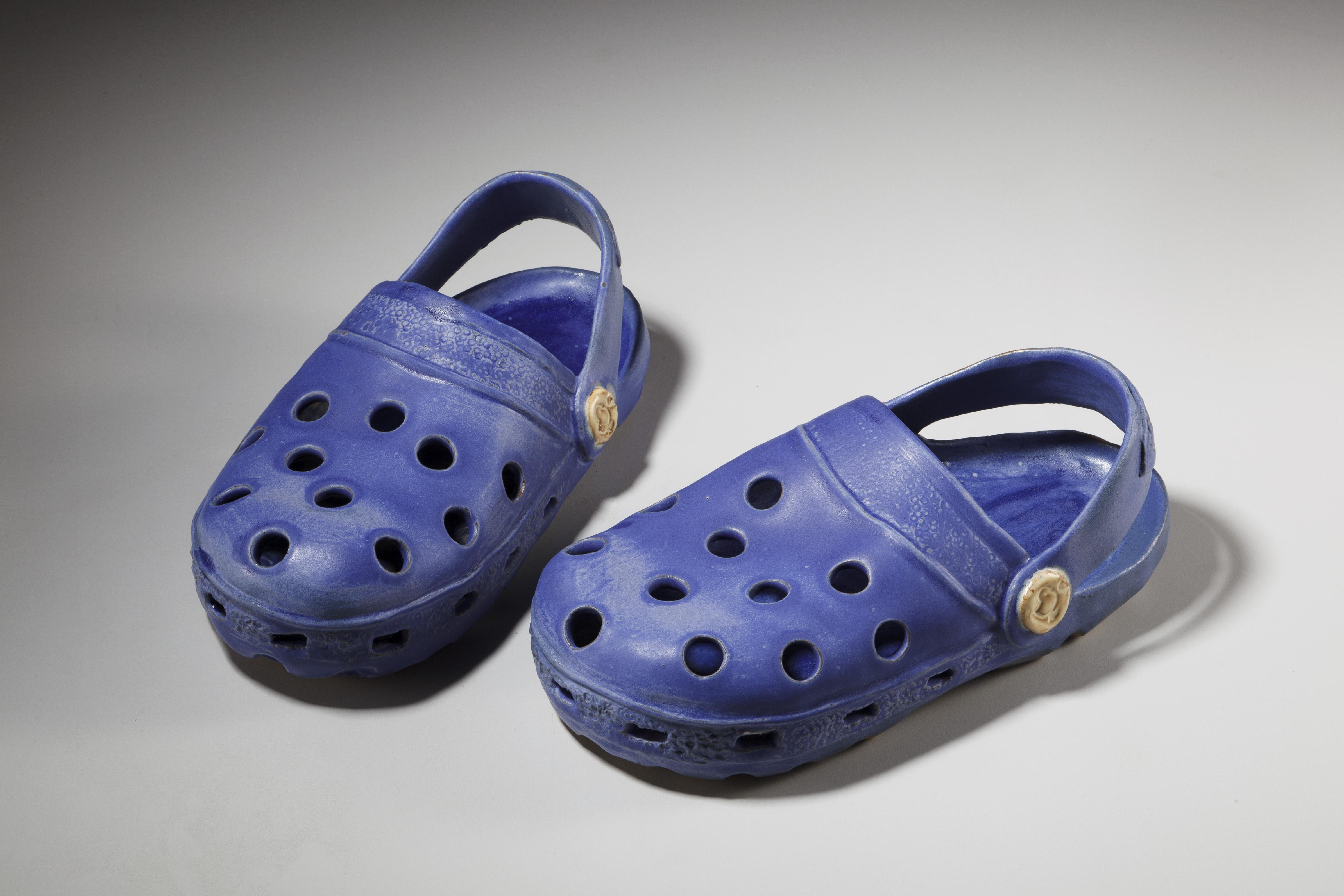 藍色布希鞋