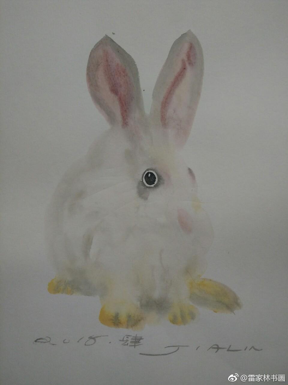 画兔三幅(二)