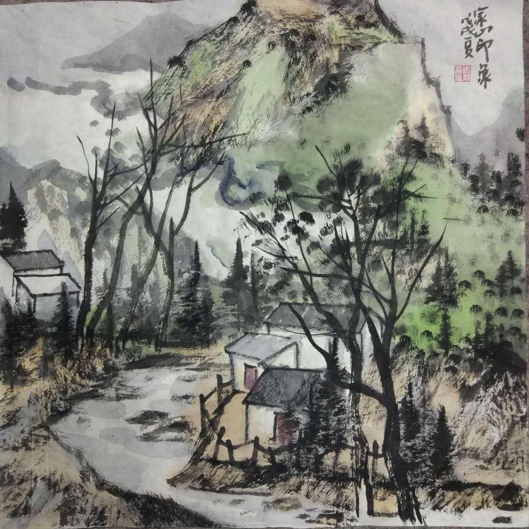 张羽中国画作品