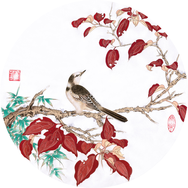 卢芳工笔画作品鸟