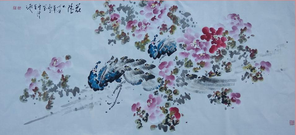 画家郑云涛六尺横幅作品欣赏