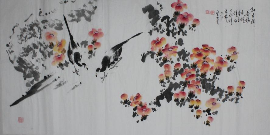 画家郑云涛花鸟画作品